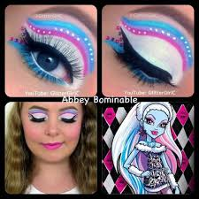 monster high abbey bominable makeup you channel you user glitterc