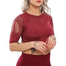 SEASUM Short Sleeve Yoga Tops For <b>Women</b> Yoga Shirts Padded ...