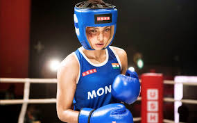 Mary Kom played by Priyanka Chopra