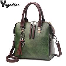 <b>Vintage PU Leather</b> Ladies HandBags <b>Women</b> Messenger Bags ...