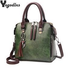 <b>Vintage</b> PU Leather Ladies <b>HandBags Women Messenger Bags</b> ...