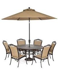 patio table and 6 chairs: beachmont outdoor patio furniture  piece dining set quot round table and