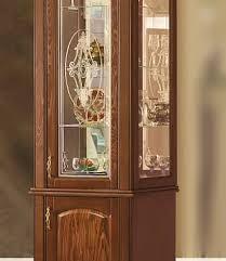 <b>Шкаф</b> с витриной <b>1</b>-<b>дв</b>. Оскар - каштан, без декора с витражом ...