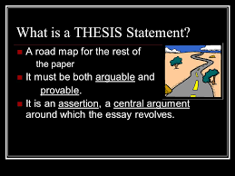 the thesis machine tpr and polish what is a thesis statement a  what is a thesis statement a road map for the rest of the paper it