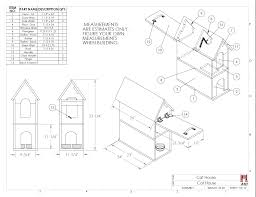 How to build a Cat House   With Print Download   Designer RantsCat House Build Plans and Instructions Drawing  DIY Pet Shelter
