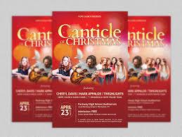 christmas concert flyer poster flyer templates on creative market