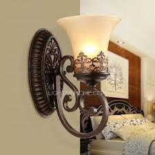 retro wall sconces and one light glass shade wrought iron cheap wall sconce lighting