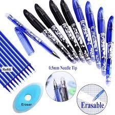 1+2+<b>20Pcs</b>/<b>Set</b> 0.5mm <b>Erasable</b> Gel <b>Pen Erasable Pen Refill</b> Rod ...