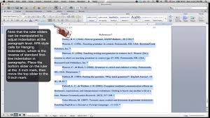 formatting an apa style references page ms word for mac  formatting an apa style references page ms word for mac 2011