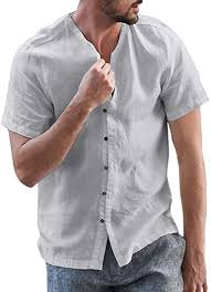<b>Men's Casual Loose</b>-<b>Fit</b> Ultra Soft Cotton Linen Classic Basic Solid ...