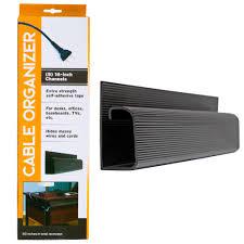 Stalwart 16 in. J-Channel Desk <b>Cable Organizer</b> in Black (<b>5</b>-Pack ...
