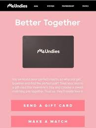 Send a MeUndies Gift Card & Choose Your Pairs Together   Milled