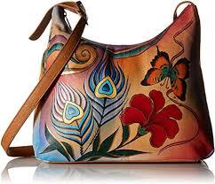 Anuschka Anuschka7006 Anna by <b>Hand</b>-<b>Painted Large</b> Hobo Bag ...