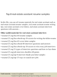 top  real estate assistant resume samplestop  real estate assistant resume samples in this file  you can ref resume materials