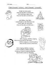 english teaching worksheets christmas english worksheets christmas colours christmas sounds