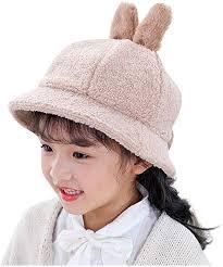 Baby Girl Fisherman Hat Kids Rabbit Ear Cartoon ... - Amazon.com