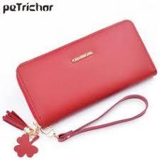 Fashion Lichee Pattern women wallet <b>long zipper</b> leather <b>hot</b> lady ...