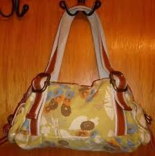 Fossil What <b>Vintage</b> Are <b>You</b>? Floral <b>Canvas</b> w/ Leather Trim ...