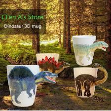 CFen A's Ceramic Mug 3D <b>Dinosaur Shape Hand</b> Painted Animals ...