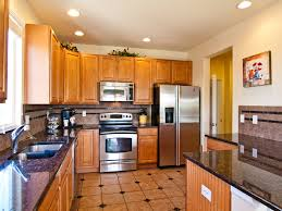 kitchen floor tiles small space: kitchen brown square tile with black on the middle tile kitchen floor feat brown