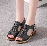liren 2019 mature pu lace up sandals summer open round toe cover heel thin high heels silk scarves office daily shoes