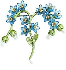 Vintage <b>Plant</b> Jewelry <b>Natural Pearl</b> Forget Me Not <b>Flower</b> Brooch ...