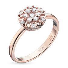 <b>Кольцо</b> из красного золота с <b>бриллиантами</b> – купить в Москве по ...