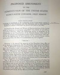united states constitution and citizenship day th amendment 1965 and reorganization plans proposed amendment to the constitution and proclamation united states government printing office washington dc 1966