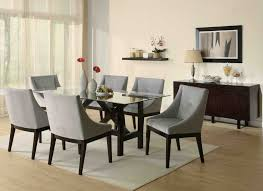roominterior glass square simple dining room furniture lovely grey leather contemporary dining chairs combined with beautiful