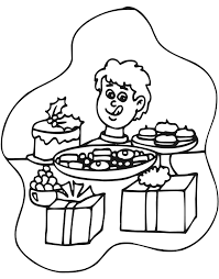 Small Picture Christmas Cookies Coloring Page Boy Christmas Goodies