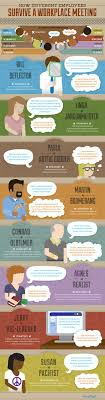17 best images about quirky job facts police mindflash infographic how different employees survive a workplace meeting careers jobsearch jobs