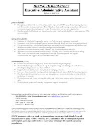 template personal assistant duties sample resume administrative sample resume of executive assistant