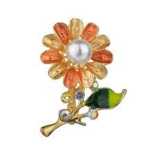 Buy Women's Brooch <b>Floral</b> Rhinestone <b>Delicate Fashion</b> Brooch ...