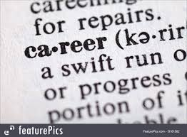 career picture dictionary definition of the word career