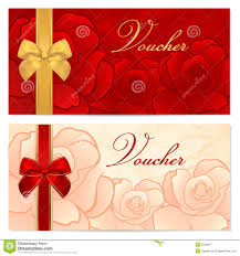 voucher gift certificate coupon template bow royalty stock gift certificate voucher coupon template bow f stock image