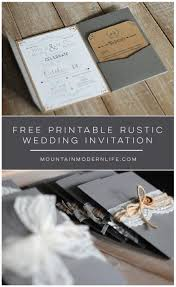 wedding invitation template mountainmodernlife com printable rustic wedding invitation template mountainmodernlife com