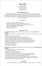 professional technical project manager templates to showcase your    resume templates  technical project manager