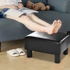 COSTWAY PU Leather Footstool Small Ottoman ... - Amazon.com