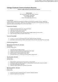 resume examples  example of college resu  axtrangallery of example of college resume