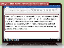 how to write your own performance review sample reviews