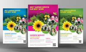 flowers shop flyer flyer templates on creative market garden service flyer template