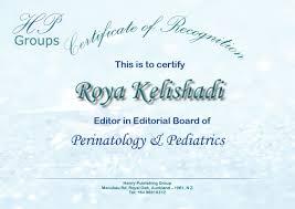 henry journal of perinatology pediatrics henry publishing group professor department of pediatrics isfahan university of medical sciences