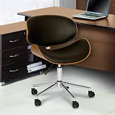 Armen Living Daphne Office Chair in Black Faux ... - Amazon.com