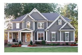 Eplans Craftsman House Plan   Traditional Yet Bright and Open    Front
