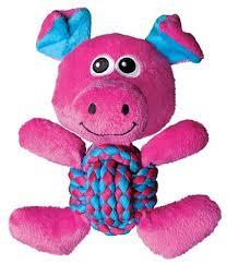<b>KONG игрушка</b> для собак <b>Weave</b> Knots Свинка средняя 22х20 см