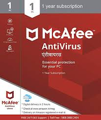 McAfee Anti-Virus - <b>1 PC</b>, 1 Year (Email Delivery in 2 hours- No CD ...