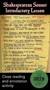 best ideas about shakespeare sonnets i love help your students begin to make sense of shakespeare s language this multi day sonnet activity working in groups students will annotate recite