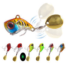 1PCS <b>Metal Mini VIB With</b> Spoon Fishing Lure 9g 22g Winter Ice ...