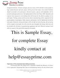 outdoor adventure amp sports essay sample   management