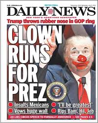 essay  thomas adcock  ein schweinehund for president    culturmagthe new york daily news  fifth largest newspaper in america  devoted its june  cover page to donald trump    s declaration of presidential candidacy   true